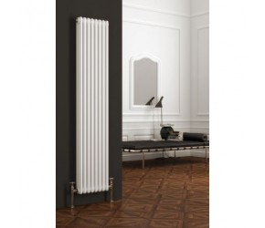 Reina Colona Vertical White 2 Column Radiator 1800mm x 200mm