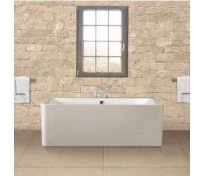 BC Designs Murali Contemporary Back To Wall Freestanding Bath