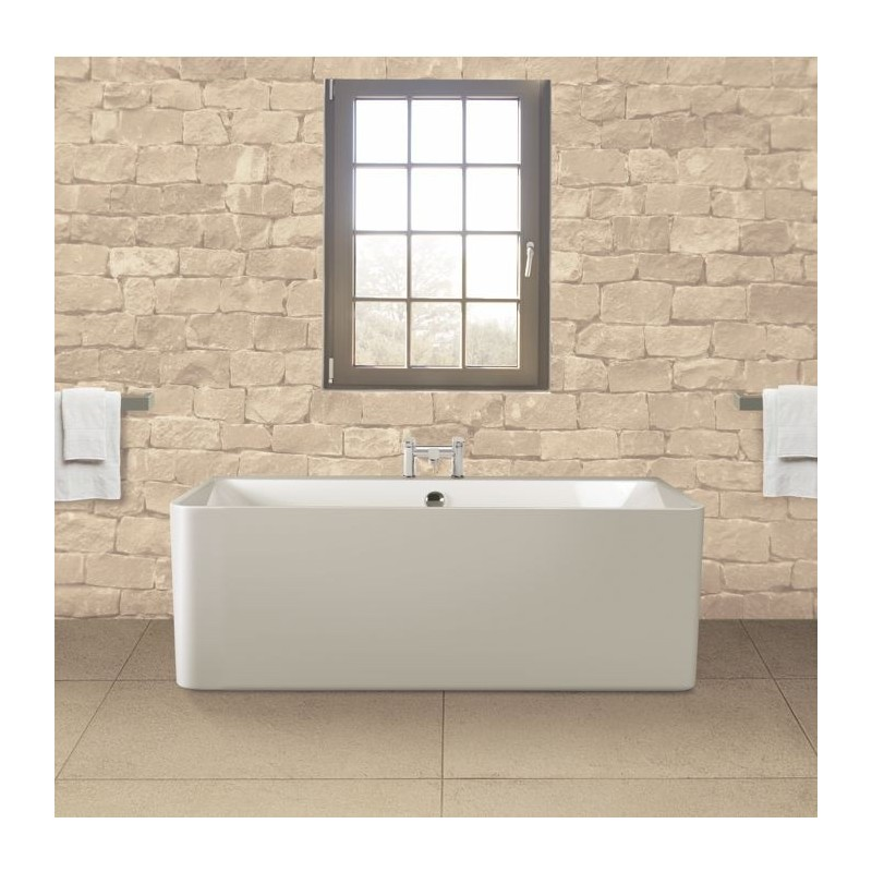 Small Back To Wall Bath Part - 27: BC Designs Murali Contemporary Back To Wall Freestanding Bath