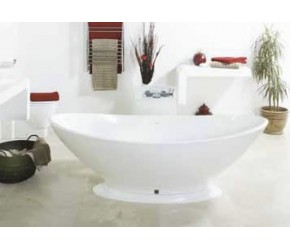 BC Designs Kurv Solid Surface Thinn Bath with Plinth 1890mm Long x 900mm Wide