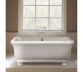 BC Designs Senator Solid Surface Thinn Bath with Globe Feet 1804mm x 850mm