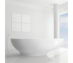 BC Designs Gio Solid Surface Thinn Bath 1645mm Long x 935mm Wide
