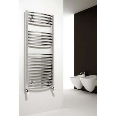 Reina Diva Curved Chrome Heated Towel Rail 1800mm x 400mm
