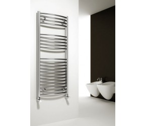 Reina Diva Curved Chrome Heated Towel Rail 1200mm x 750mm