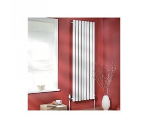 Eastgate Vulkan Round Tube White Vertical Radiator 1500mm x 435mm