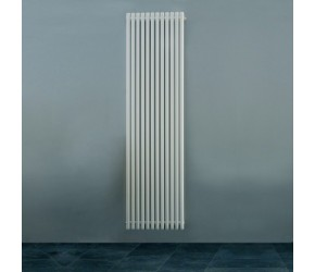 Eucotherm Supra Round Tube White Vertical Radiator 1500mm x 470mm