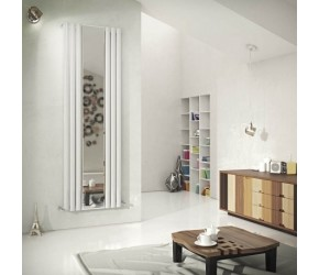 Eastgate Reflection White Single Panel Mirror Designer Radiator 1800mm x 584mm