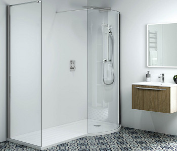 Phoenix Techno P-Shaped Walk-In Shower Enclosures