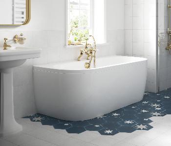 BC Designs Solid Blue Baths