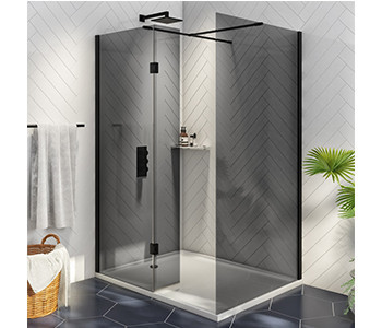 Iona A8 8mm Glass Wetroom Shower Panels