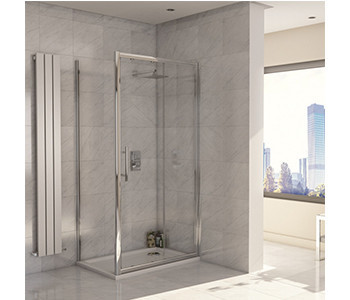 Iona A8 8mm Glass Sliding Shower Doors