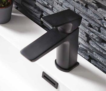 Iona Uno Matt Black Bathroom Tap Collection
