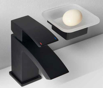 Iona Shadow Black Bathroom Accessories