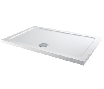 Iona 40mm Low Profile Stone Resin Rectangle Shower Trays