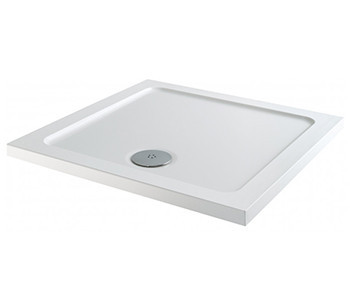 Iona 40mm Low Profile Stone Resin Square Shower Trays