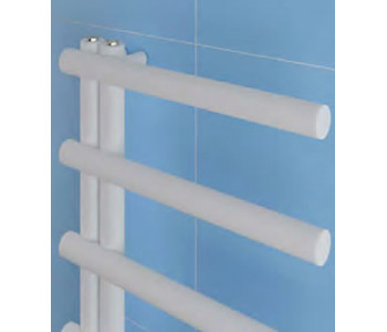 Eastbrook Marlow E Style Matt White Towel Rails