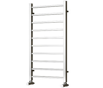 Reina Serena Chrome Square Tube Towel Rails