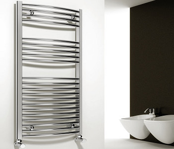 Reina Diva Chrome Heated Ladder Towel Rails