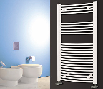 Reina Diva White Heated Ladder Towel Rails