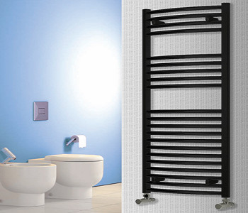Reina Diva Black Heated Ladder Towel Rails