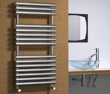 Reina Helin Polished Stainless Steel Oval Tube Towel Rails
