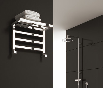 Reina Elvina Designer Chrome Towel Rail Rack