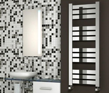 Reina Riva Chrome Flat Tube Towel Rails