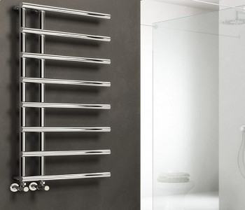 Reina Matera Chrome and Anthracite Open Ended Towel Rails