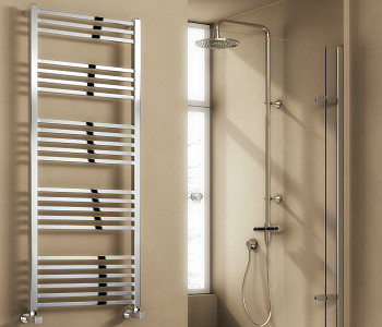 Reina Vasto Chrome Heated Ladder Towel Rails