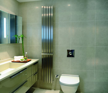 Kartell Idaho Brushed Stainless Steel Vertical Radiators