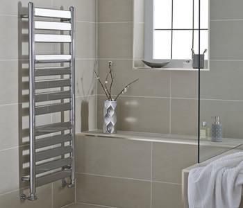Kartell Newark Chrome Flat Panel Towel Rails