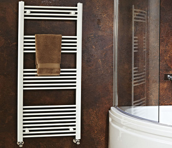 Phoenix Flavia White Straight Towel Rails