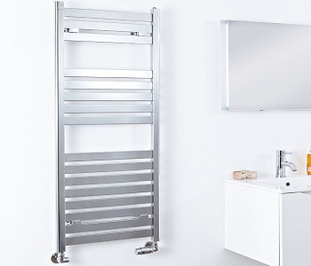 Phoenix Ascot Chrome Flat Towel Rails