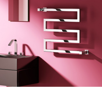 Reina Serpe Chrome and Anthracite Designer Towel Rails