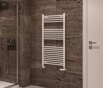 Eastbrook Wingrave Gloss White Towel Rails
