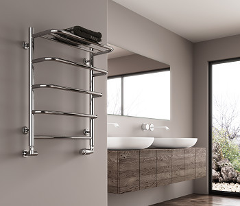 Reina Elvo Polished Stainless Steel Towel Rail