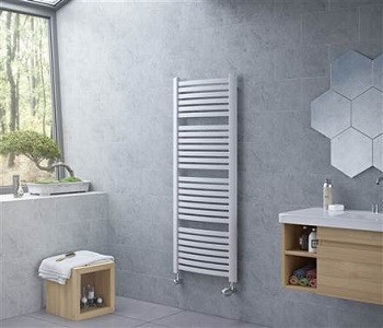 Eucotherm Fino White and Anthracite Towel Rails